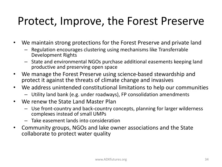 Protect, Improve, the Forest Preserve