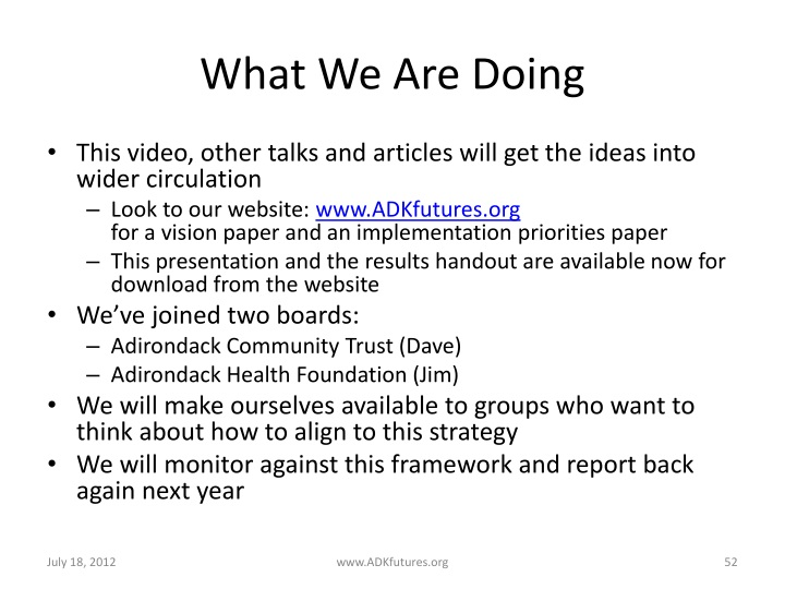 What We Are Doing