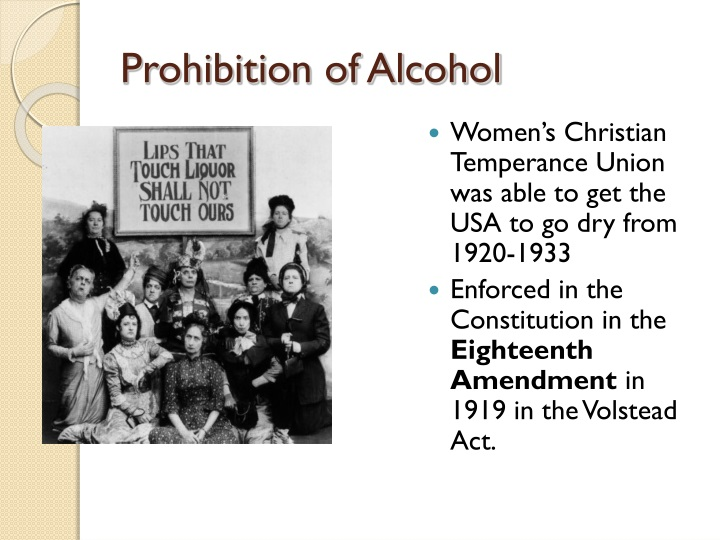 us governments prohibition of alcohol takes its toll The minister is correct if one takes a  to save us from a cannabis crisis of its  benefit from prohibition and governments see their.