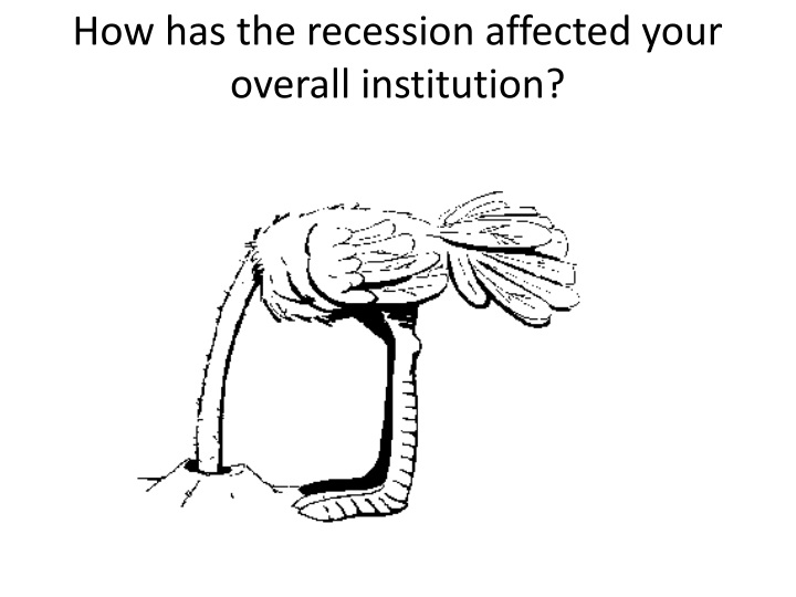 How has the recession affected your overall institution?