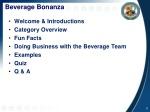 beverage bonanza