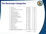 the beverage categories