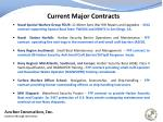current major contracts