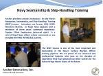 navy seamanship ship handling training