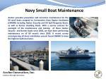 navy small boat maintenance