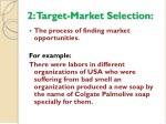 2 target market selection