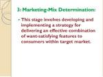 3 marketing mix determination