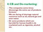 4 cb and de marketing