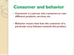 consumer and behavior