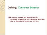 defining consumer behavior