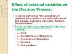 effect of external variables on the decision process