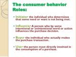 the consumer behavior roles