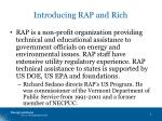 introducing rap and rich