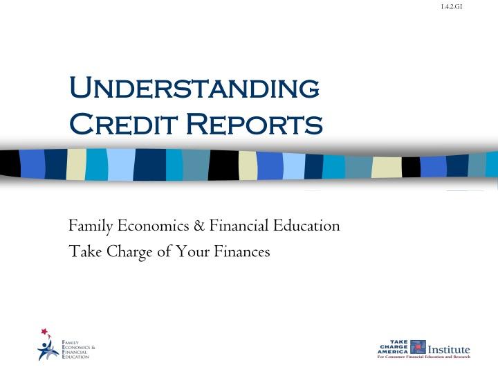 understanding credit reports n.