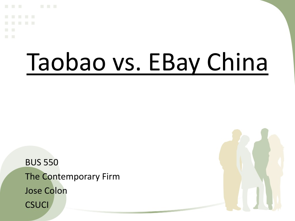 Ppt Taobao Vs Ebay China Powerpoint Presentation Free Download Id 1511000
