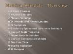 meeting schedule overview