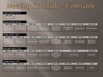 meeting schedule timetable