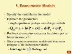 5 econometric models