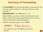 accuracy of forecasting
