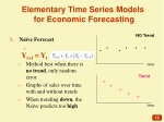 elementary time series models for economic forecasting