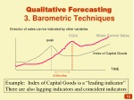 qualitative forecasting 3 barometric techniques