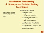 qualitative forecasting 4 surveys and opinion polling techniques