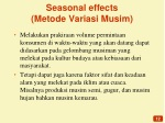 seasonal effects metode variasi musim