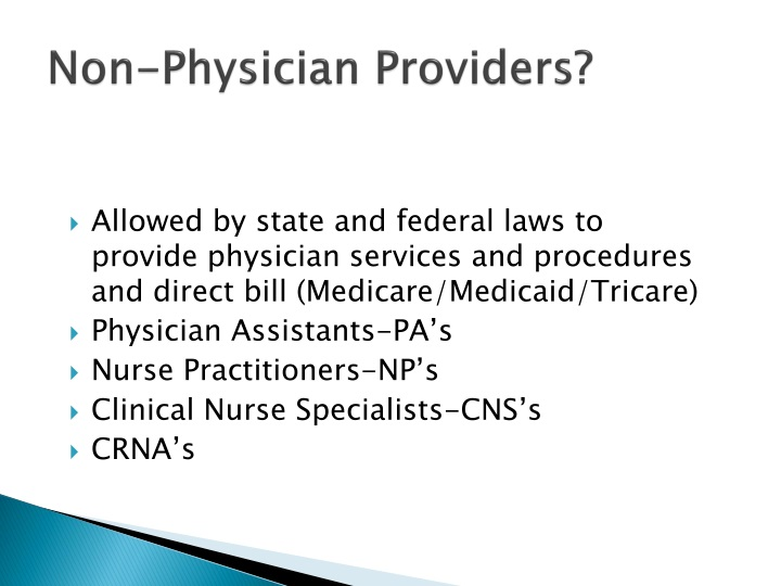 Non-Physician Providers?
