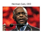 herman cain ceo