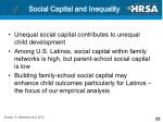 social capital and inequality