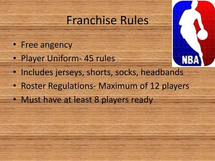 Franchise Rules