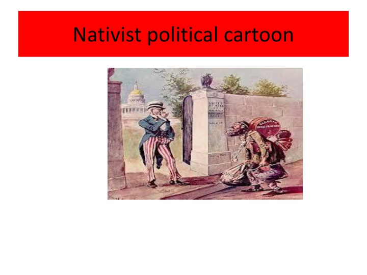 Nativist political cartoon