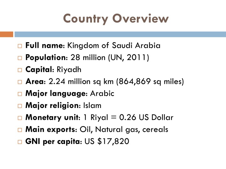 Country overview
