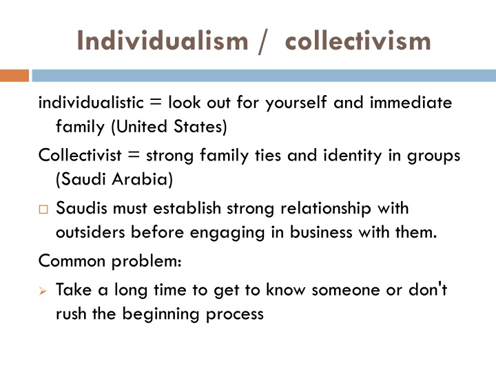 Individualism /  collectivism