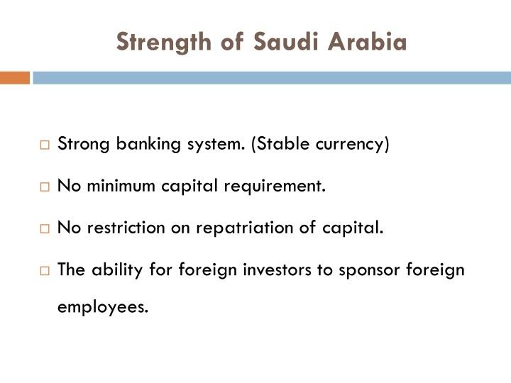 Strength of Saudi Arabia