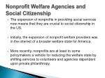 nonprofit welfare agencies and social citizenship