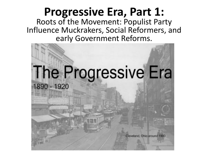 the progressive movement in america essay Å å å å ap us history exam sample questions scoring guidelines for long-essay question – period 7 0–6 points evaluate the extent to which the progressive era (1890–1920.