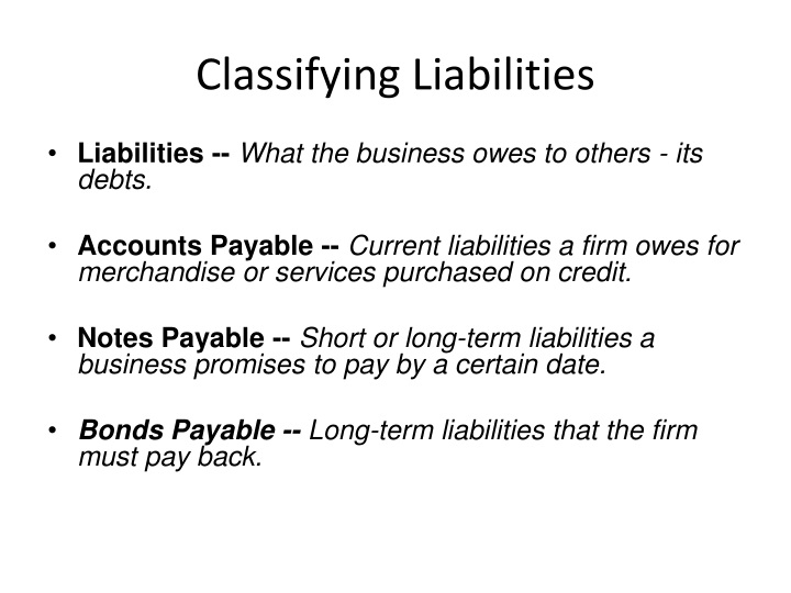 Classifying Liabilities