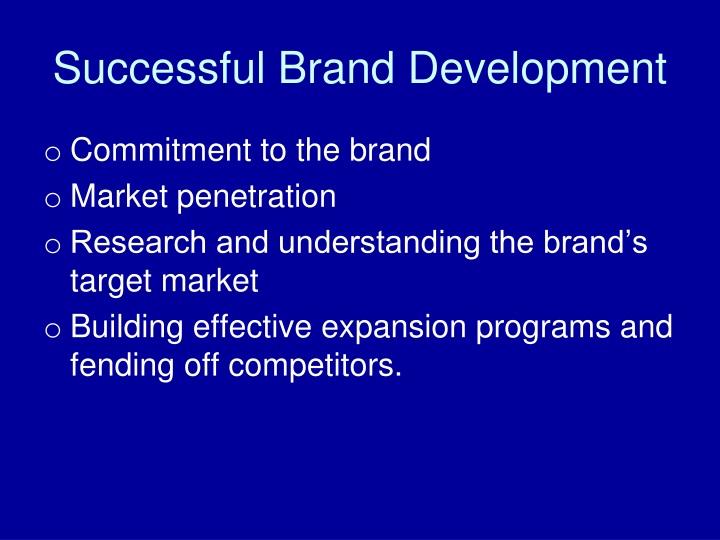 Successful Brand Development