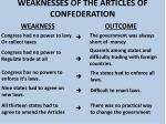 weaknesses of the articles of confederation9