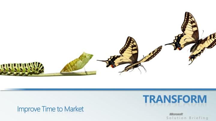 transform improve time to market n.