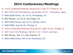 2014 conferences meetings