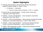 ballot highlights