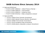 sasb actions since january 2014