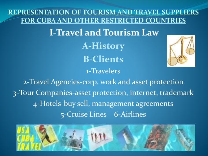 representation of tourism and travel suppliers n.
