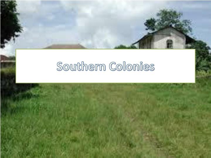 southern colonies n.