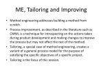 me tailoring and improving