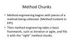 method chunks