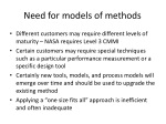 need for models of methods