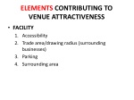 elements contributing to venue attractiveness